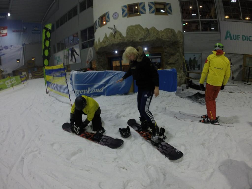 Linette og Sebastian med på skitur i Europas største indendørs skihal